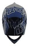BMX World Troy Lee Designs D3 Fiberlite Silhouette Navy Silver 2020