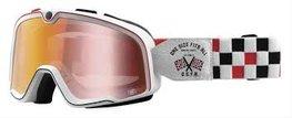 100% Barstow Classic OSFA Mirror lens Crossbril