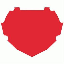 BOX Achtergrond Sticker Rood klein