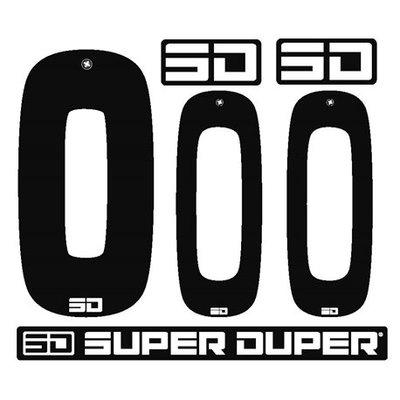 Super Duper Plakcijfers Zwart