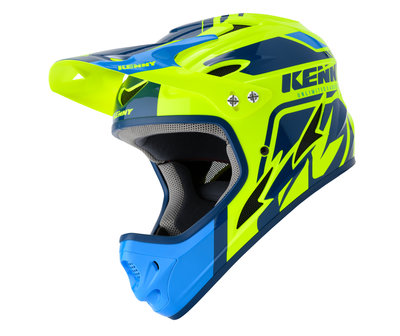 Kenny BMX downhill Helm Blue Neon Yellow 2020