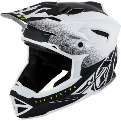 FLY Default Dither 2019 Helmet Matte White/Black