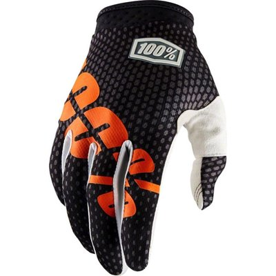 100% iTrack Glove Charcoal/Orange