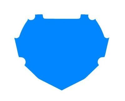 BOX Achtergrond Sticker Blauw Groot