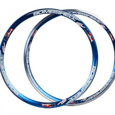 "Bomshell SL Front and rear Rimset 20"" 1.75 Blue"