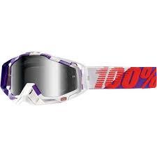 100% Crossbril Racecraft Purple Mail Mirror Silver