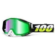 100% Crossbril Racecraft Simbad Mirror Green