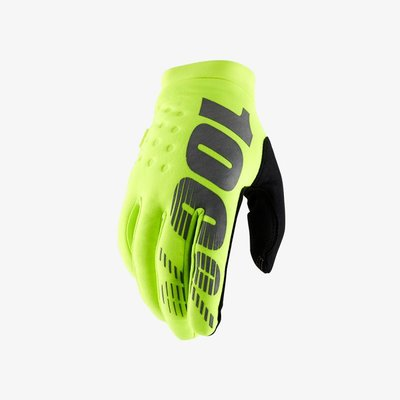 100% Brisker handschoen Fluo Yellow