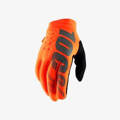 100% Brisker handschoen Fluo Orange