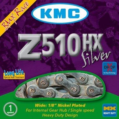 KMC Z1eHX Narrow Silver (Voorheen Z610 HX Zilver) BMX ketting