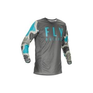 Fly Kinetic K221 Jersey 2021 Grey/Blue BMX World